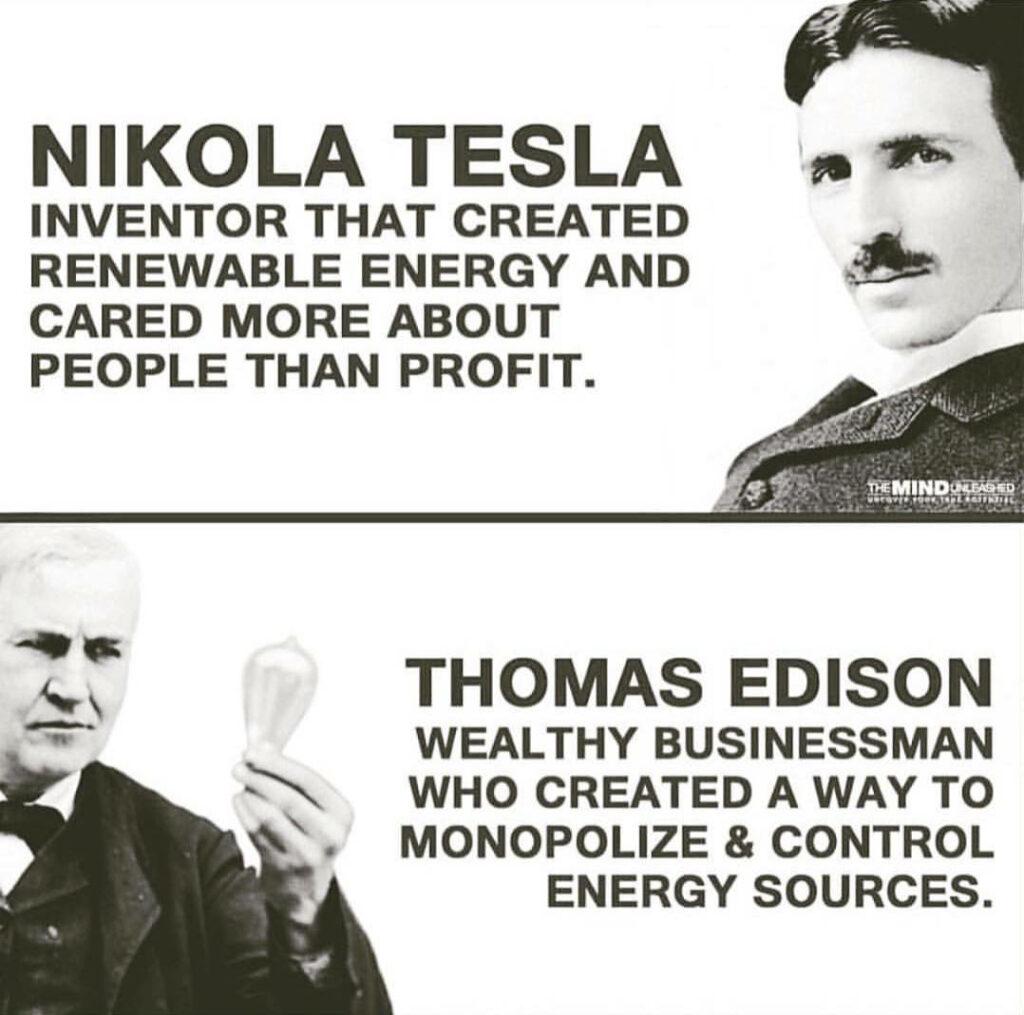 Nikola Tesla in Thomas Edison